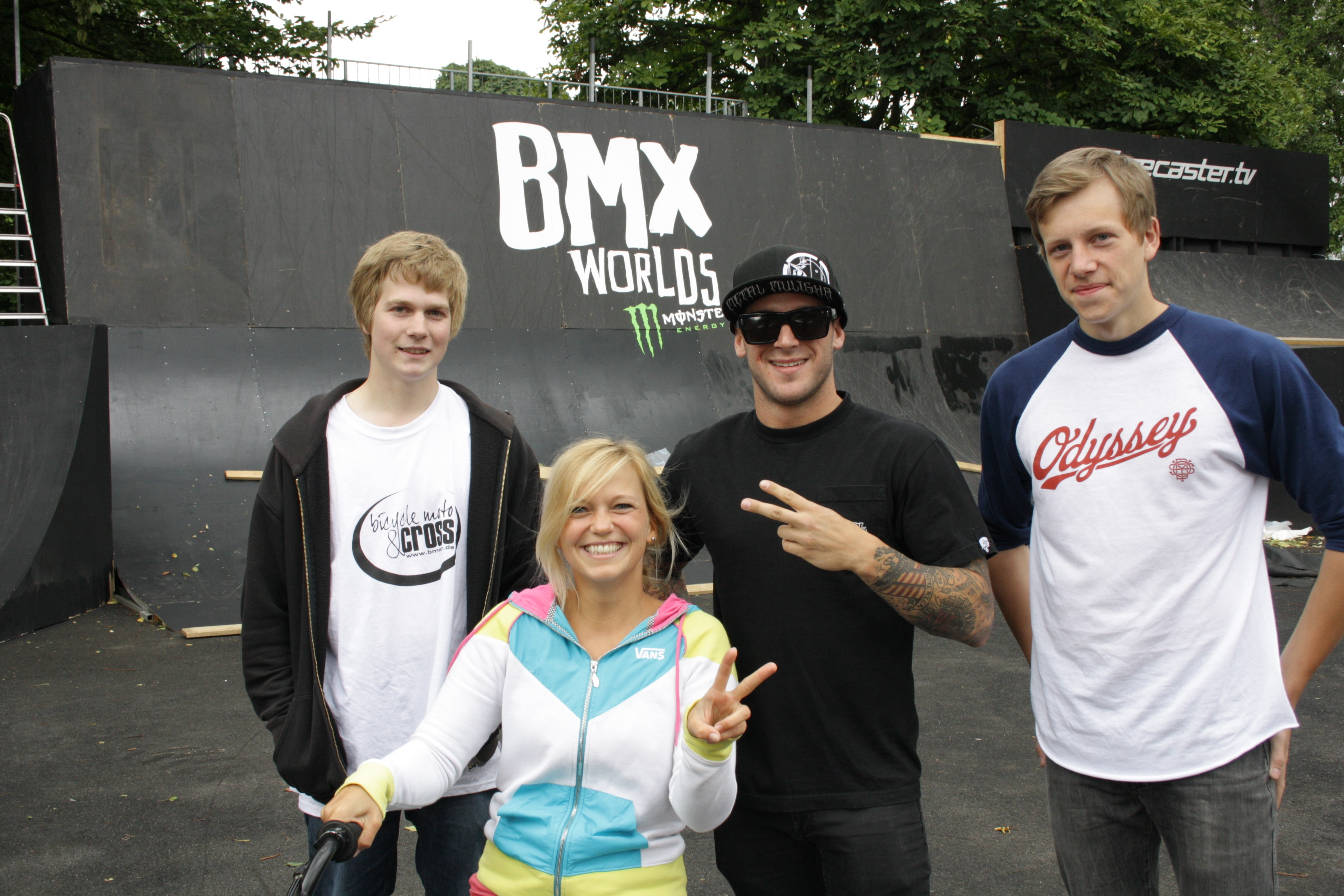 Hendrik, ich Brandon und Tilo
