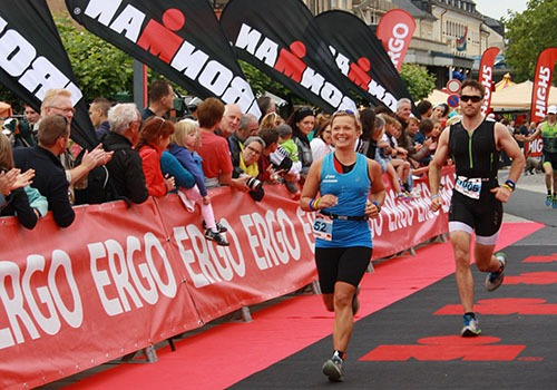 Zieleinlauf Ironman 70.3 Luxemburg